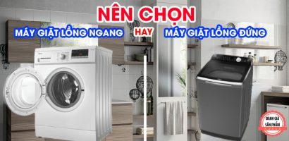 Nên chọn máy giặt lg cửa ngang hay cửa đứng?