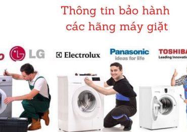 Thông tin bảo hành các hãng máy giặt