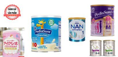 Top 5 loại sữa tăng cân cho bé tốt nhất hiện nay
